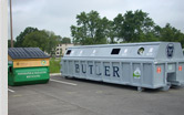 Paper bins at the Butler University campus.