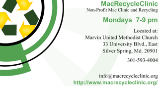 MacRecycleClinic Business Card - Front